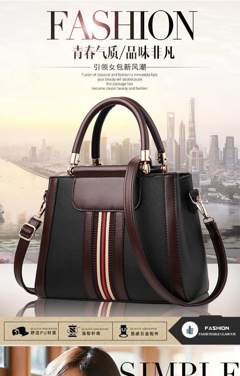 6d9c35b2e3 Vintage Handbag Women Brand New Design Handbag White and Red Stripe Tote Bag  Female Shoulder Bags High Quality PU Leather Purse