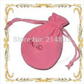 (100pcs/lot) Size 7x9cm  quality velvet drawstring pouch gift bags with brand logo