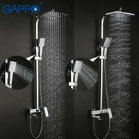 GAPPO Shower Faucet Set Bronze Bathtub Faucet Mixer Tap Waterfall Wall Shower Head Chrome Bathroom Shower