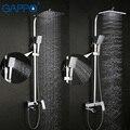 GAPPO смеситель для душа набор Бронзовый Смеситель для ванной кран водопад настенная душевая головка хромированный набор для ванной комнаты ...