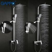 GAPPO bateria natryskowa zestaw brąz bateria do wanny mixer tap wodospad prysznic ścienny głowica prysznicowa chrome łazienka prysznic zestaw GA2407 GA2407 8 w System prysznicowy od Majsterkowanie na