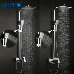 GAPPO doccia rubinetto set bronzo vasca da bagno rubinetto miscelatore rubinetto cascata parete doccia testa chrome Bagno Doccia set Doccia GA2407 GA2407-8