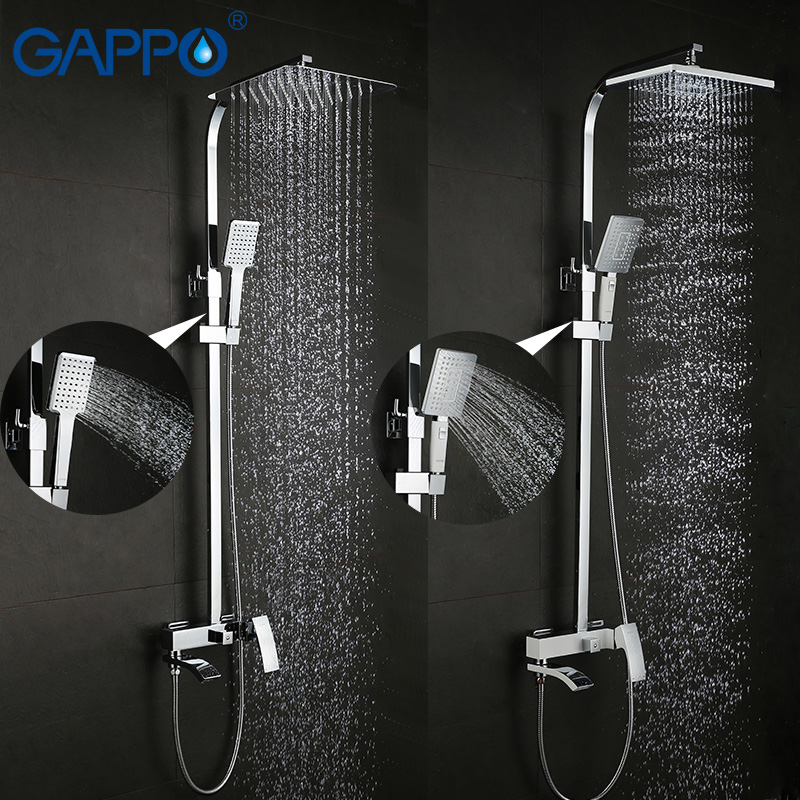 GAPPO shower faucet set bronze bathtub faucet mixer tap waterfall wall shower head chrome Bathroom Shower set GA2407 GA2407-8 gappo classic chrome bathroom shower faucet bath faucet mixer tap with hand shower head set wall mounted g3260