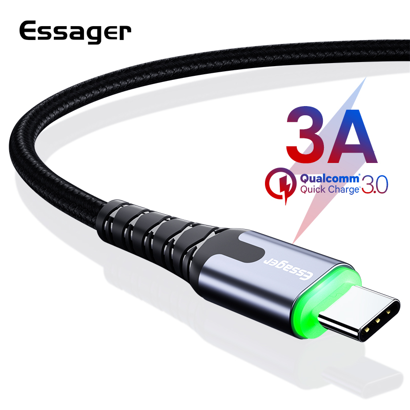 essager led usb type c cable fast charging usb c cable for. Black Bedroom Furniture Sets. Home Design Ideas