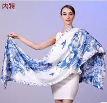 Nate hangzhou silk scarves double button warm 100% mulberry silk 2 scarves changed scarf shawl to winter