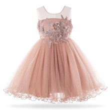 Cielarko 2019 Kid Girls Birthday Gift Dress Frock Children Wedding Party Dresses Formal Evening Princess For Girl 3-10Year