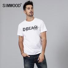 SIMWOOD 2019 100% Cotton Fashion T-Shirt Men Funny Tshirts M