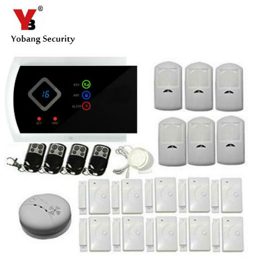 YobangSecurity English Russian Spanish Italian Slovak Burglar Alarm Security system Wireless GSM PIR Auto Sensor Motion Detector