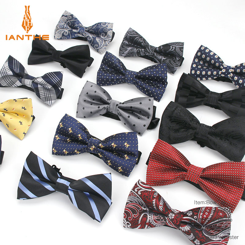 Fashion Bowties Groom Men Plaid Stripe Cravat For Men Dot Butterfly Gravata Designer Male Star Marriage Wedding Paisley Bow Ties