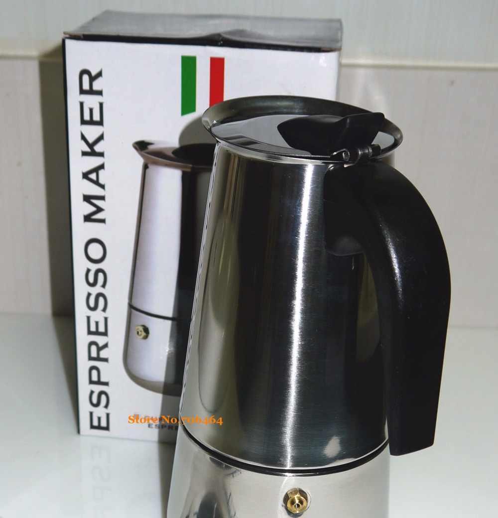 6 tazze di Alta qualità Moka caffettiera/moka, Espresso caffettiera in acciaio inox moka macchina per il caffè YH101-6