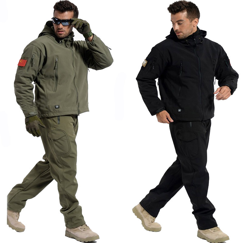 Tactical Sets Jacket Or Pants Sharkskin TAD Men Waterproof Windproof Army Military Hunting Suits Outdoor Climbing Hiking Clothes