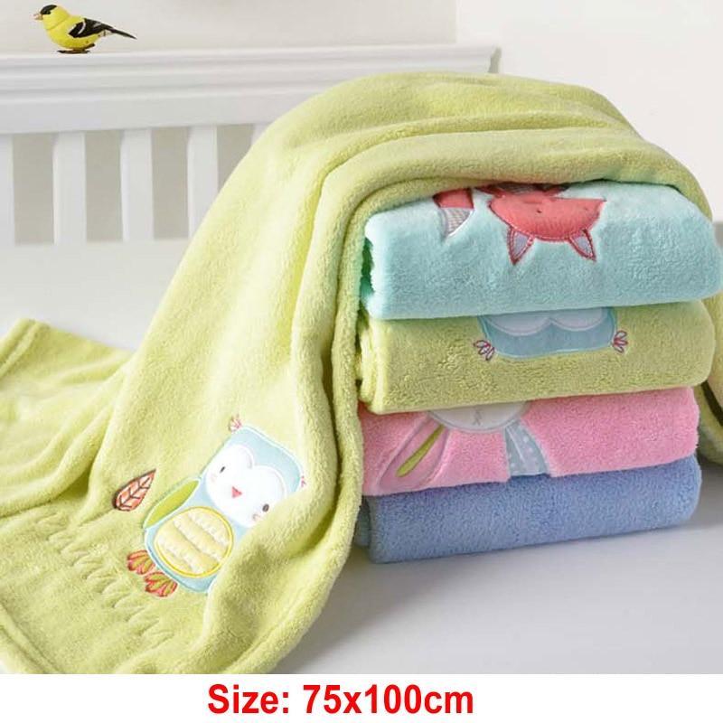 Christmas Gift 75x100cm Coral Fleece Cartoon Child Blanket