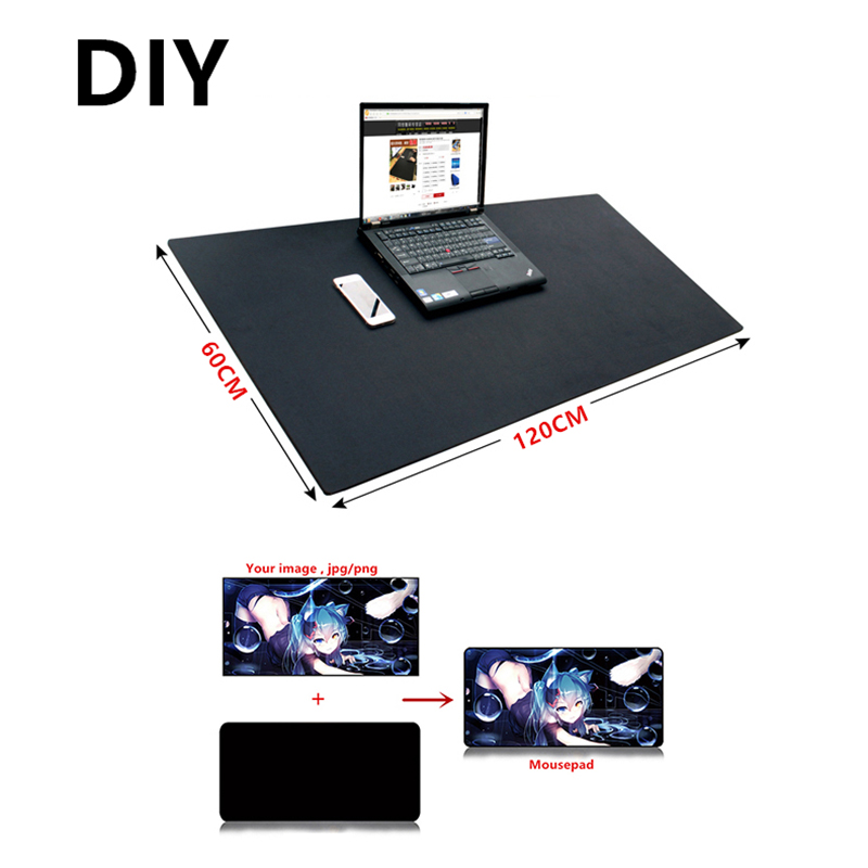 Large DIY Custom Mouse Pad XXL XXXL 120*60cm 100*50cm 2mm Grande DIY Gaming Mousepad Desk Mat Anime For CS GO Dota 2 Game Gamer