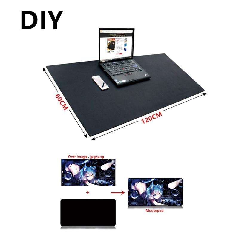 все цены на Super large DIY Custom mousepad XL XXL 120*60cm grande DIY gaming Mouse pad mat Sexy Anime for overwatch CS GO dota 2 game gamer онлайн