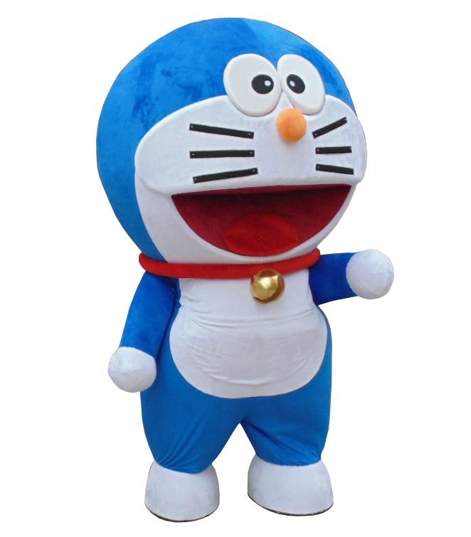 Super High Quality Robocat Mascot Costume Doraemon Fancy Dress