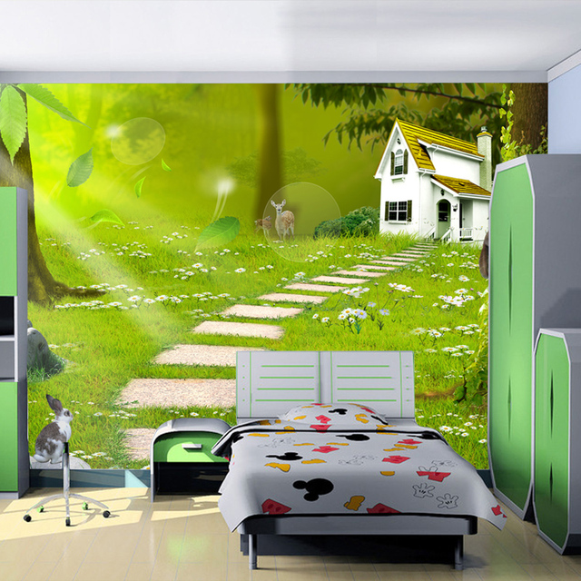 Photo Wallpaper 3D Wall Mural Paper Cartoon Child Real Decoration For Living Room Murals