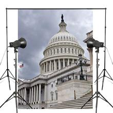 United States Capitol side view Theme Photography Background Studio Props Wall Backdrop 150x220cm
