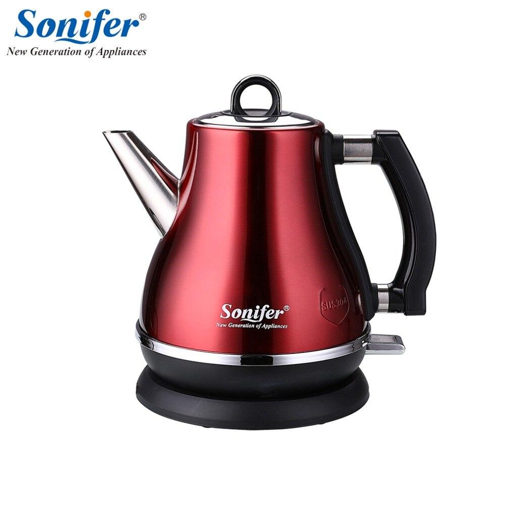 1.2L Bunte 304 edelstahl Elektrische Wasserkocher 1500 watt Haushalt 220 v Schnell Heizung Elektrische Kochendem Topf Sonifer