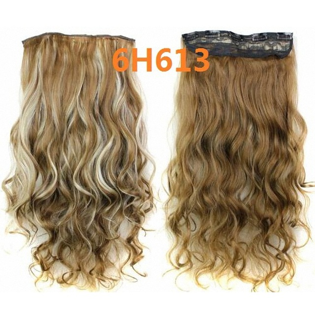 5 Clips In Hair Extensions 23inch 120g Long Curly Hair Extensions