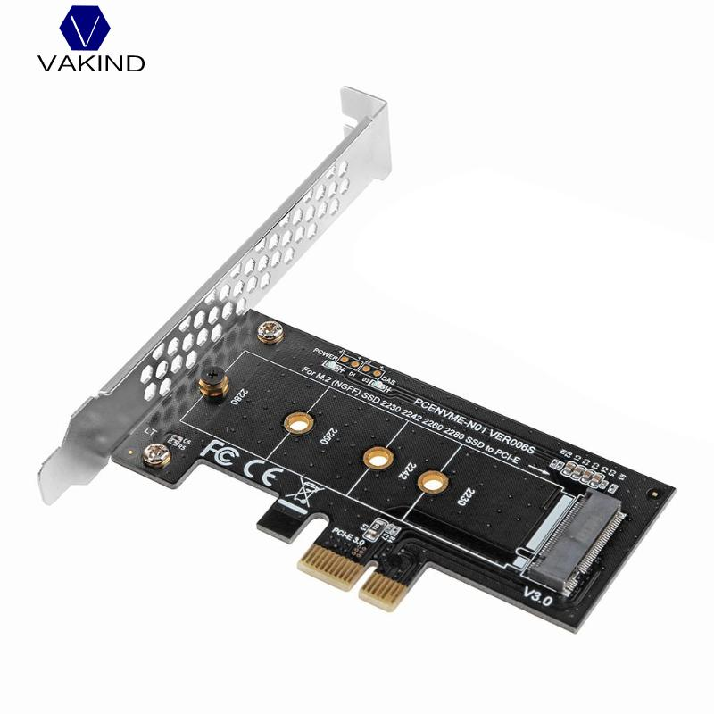 VAKIND PCI-E 3.0 x4 to M.2 NVMe SSD NGFF Pcie M2 Riser Card Adapter Support PCI Express 3.0 x4 2230-2280 Size m.2 NVME vakind 100x41mm m 2 nvme ssd ngff to pcie 16x 4x adapter expansion card pcie nvme m 2 ssd to pcie card with heatsink heat sink