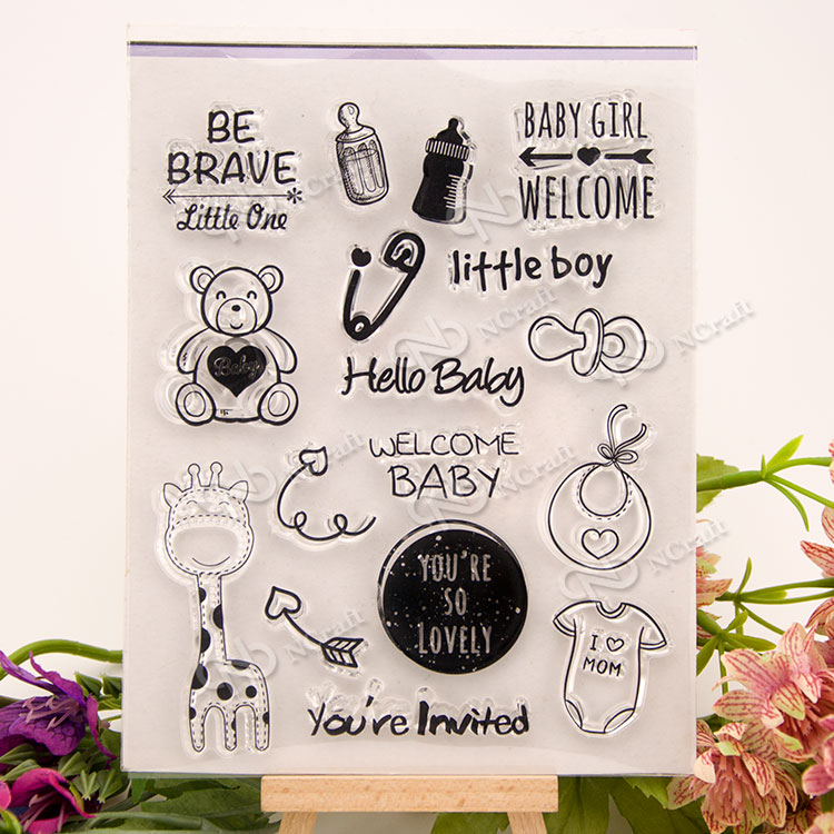 baby Transparent Destinat Silicone Stamp/Seal For DIY Scrapbooking/ photo Album Decorative Clear Stamp Sheets A243 about lovely baby design transparent clear silicone stamp seal for diy scrapbooking photo album clear stamp paper craft cl 052