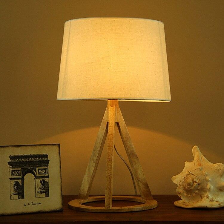Туда 48X20 см Бесплатная доставка дерево настольная лампа бытовые Спальня настольная лампа простой, но элегантный Стиль натуральный дуб свет...