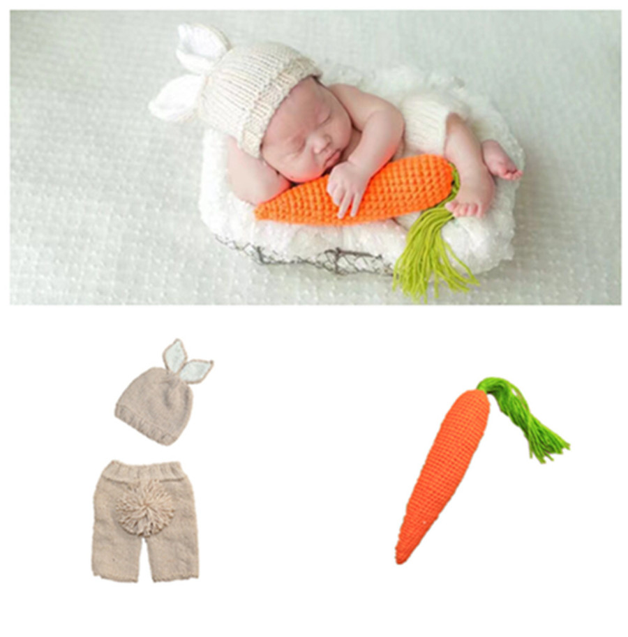 neonatal crochet mini bunny clothing modelling milk cotton knitted garments and toys bab ...