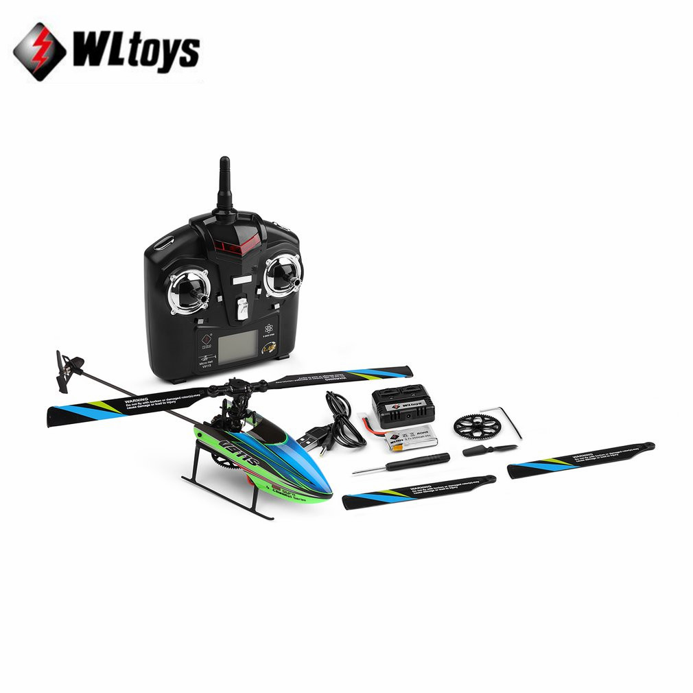 RC Helicopter Aircraft Remote-Control V911S Wltoys Kid 4CH Rtf-Upgrade Gift Propelller