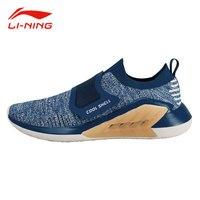 Li-Ning мужская новая стильная обувь для прогулок LI NING COULD Cushion кроссовки с подкладкой летняя дышащая текстильная спортивная обувь AGLN025