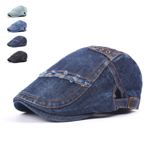 d0fa9735293 Fashion Spring Summer Jeans Hats for Men Women High Quality Casual Unisex Denim  Beret Caps OutDoors