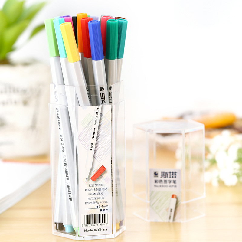 STA Colorful Fineliner 0.4mm Signature Drawing Sketch Marker Drawing Pen Manga Anime Comic Art Marker touchnew 60 colors artist dual head sketch markers for manga marker school drawing marker pen design supplies 5type