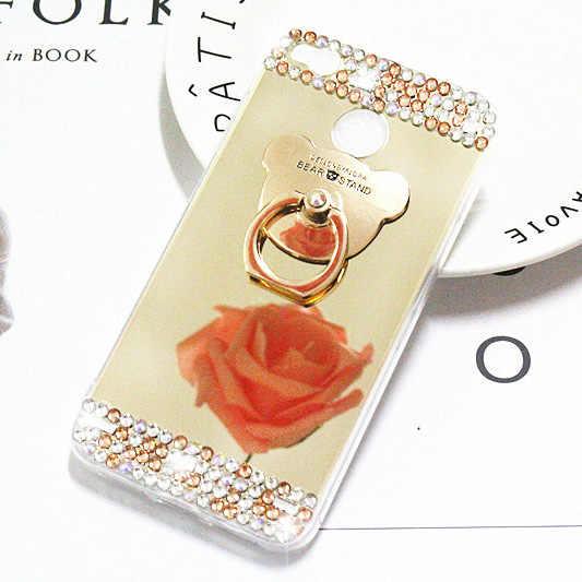 Чехол для телефона для Xiaomi redmi S2 4X6 6 Pro Примечание 5 6A чехол силиконовый чехол новый роскошный горный хрусталь кольцо держатель мягкий, зеркальный, из ТПУ крышка