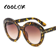 COOLSIR Retro Women Oversized Round Sun Glasses Brand Designer Fashion Double Transparent Jelly Colors Gradient Shades