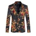 Projetos homens Blazer Homens Elegantes Blazer Floral Moda Impresso Ocasional Jaqueta de terno Homens Mais Recente Projeto Casaco 5XL 6XL Prom Stage Q224