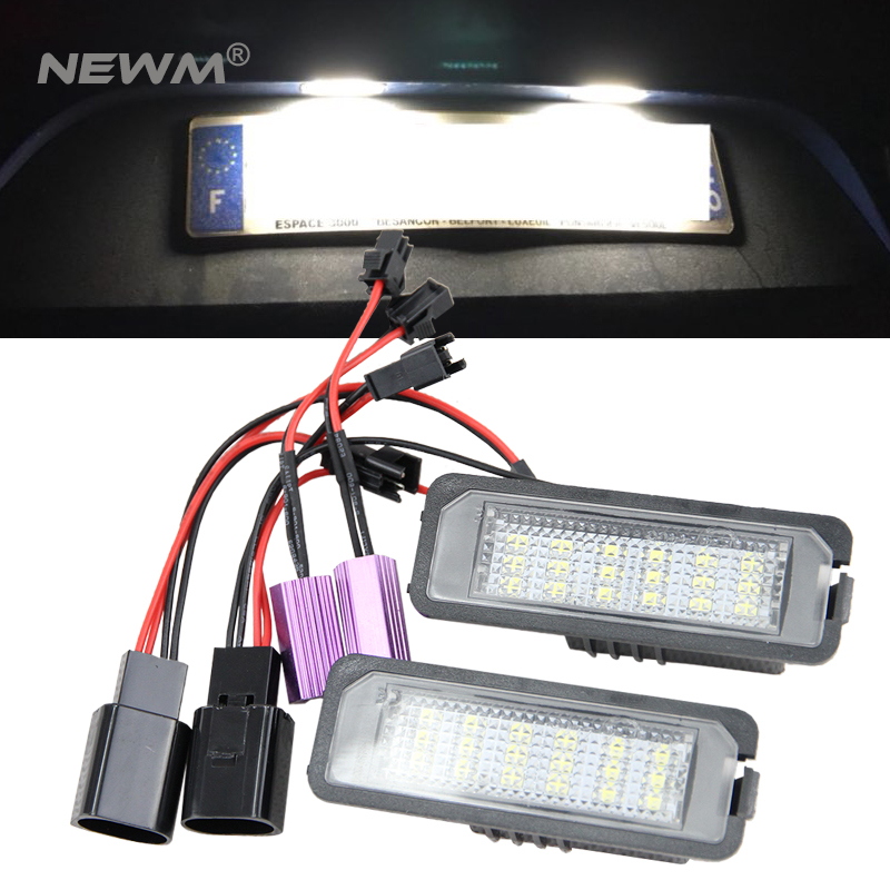 36mm 12 LED CANBUS ERROR FREE NUMBER PLATE BULBS For Seat AROSE /& ALTEA 04+