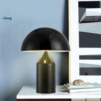 Nordic Mushroom Shape Iron Art Designer Led Table Lamp for Bedroom Living Room Study E14 Led Desk Lights Home Deco Bed Lamp