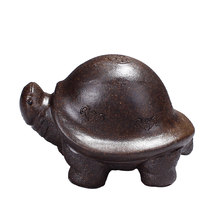Yixing full handmade purple sand lucky lucky turtle animal tea pet tea play tea tray ornaments can be turtle cover(China)