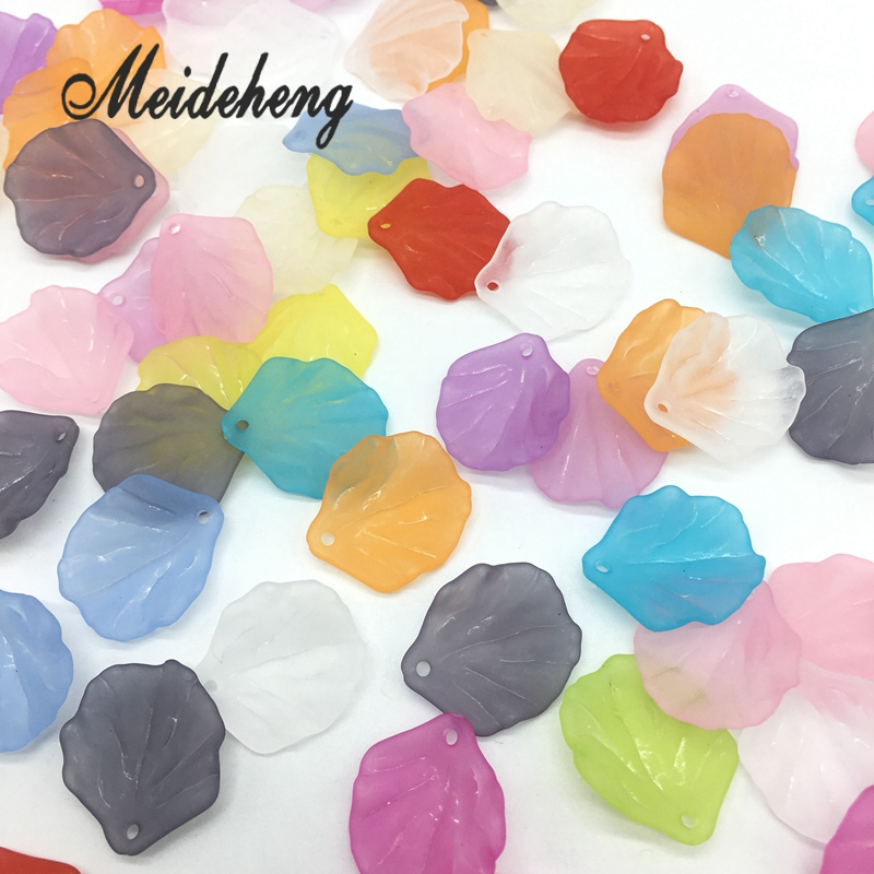 18x20mm 110pc Petals Acrylic Hair Jewelry shell Beads Translucent - Fashion Jewelry