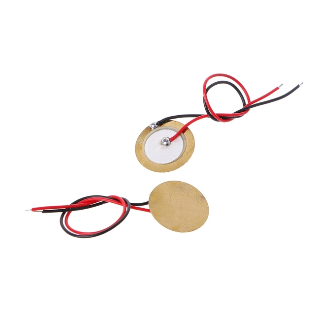 10 Pcs Piezoelectric Piezo Ceramic Wafer Plate Dia 15mm For Buzzer Loudspeaker