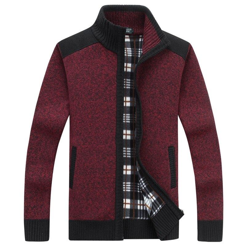2018 Men's Sweaters  Winter Warm Cashmere Wool Zipper Cardigan Sweaters Man Casual Knitwear Sweatercoat Drop Shipping ABZ124