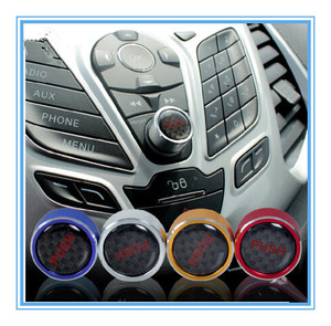 Car Covers Aluminum Audio Control Knob Trim Cover Switch Button Sticker for Ford for New Focus 3 MK3 MK4 2012 - 2016 Accessories