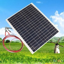 Practical Efficiency 12V 20W Sun Power Soft Flexible Solar Panel With 4M Cable And Clip 45*35*0.3 cm Polycrystalline Silicon