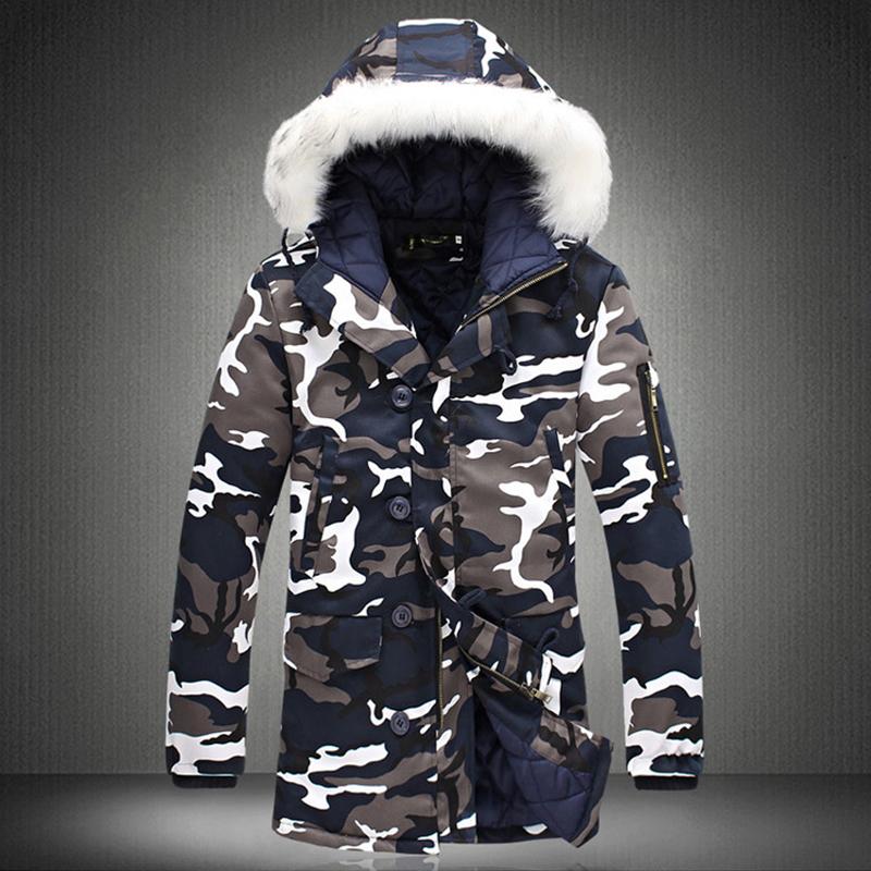 972c8fdd4bd 2019 Wholesale 2017 Winter Plus Size Mens Camouflage Down Jacket ...