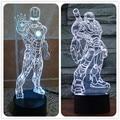 Ironman 3D USB Led night light 7 цветов иллюзия ночная лампа сенсорный кнопки kid/дети гостиная/спальня таблица/настольные светильники