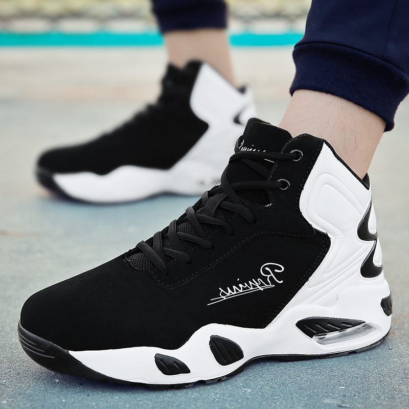 QzsYog Men Basketball Shoes High Top Air Cushion Sneakers Outdoor Sport Athletic Training Basket Hombre Ankle Boots Breathable
