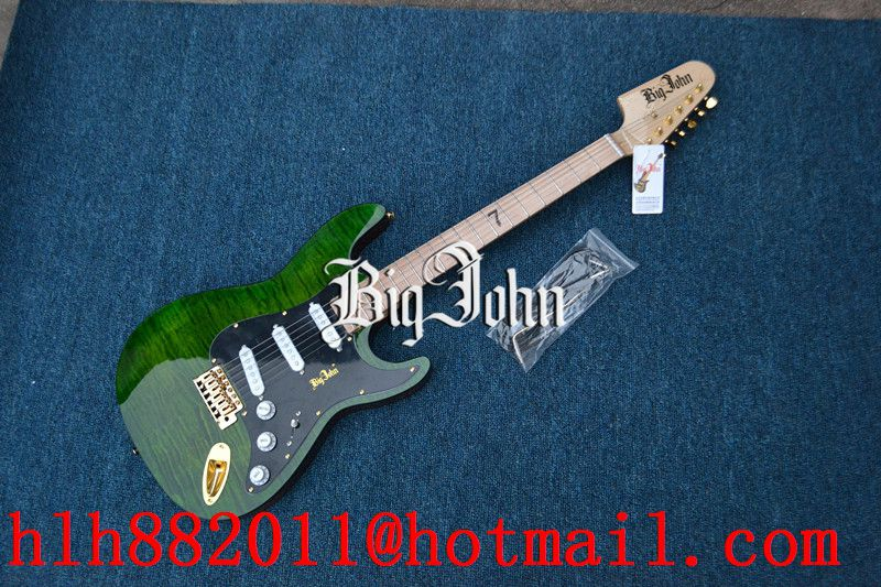 free shipping new Big John single wave  electric guitar in green with alder body  F-3358 big john модель 65d