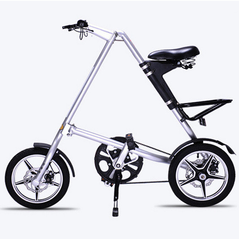 2018 New Folding Bike Folding Bicycle 14 inch Carbon Fiber Frame Single-Speed Urban Bike Mini City Foldable Bike With Headlights цена
