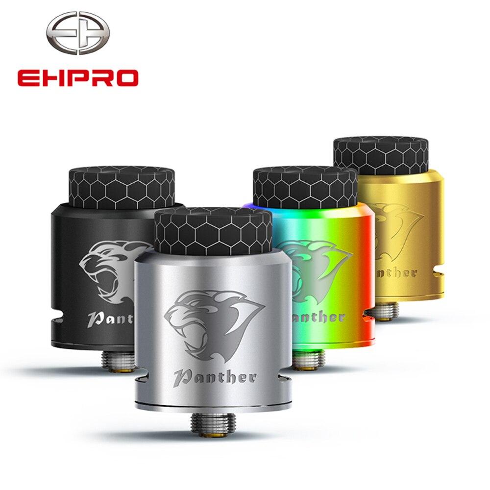 E-cig Atomiseur Ehpro Panthère BF RDA Réservoir 24mm fit mech mod BRICOLAGE Double Bobines pour Squonk Boîte mod Réglable Airflow Vaporisateur BF RDA