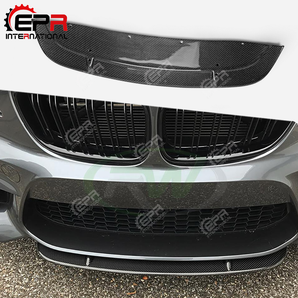 For BMW F87 M2 ST Style Carbon Fiber Front Splitter For Real M2 Glossy Finish Bumper
