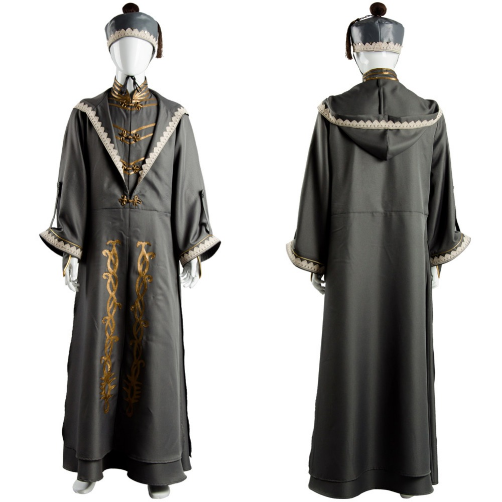 Albus Dumbledore Cosplay Costume Robe Cloak Adult Halloween Party Costume With Hat Full Set